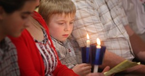 28.4.2018 Last Saturday in St Mary's Parish Church Athlone the World Meeting of Families Liturgy Team modelled the evening prayer which will open the event on August 21st. Pic shows  David Fleming (7) from Athlone with a candle which was given to each of the congregation at the cermony on Saturday in St Mary's Church Athlone. Pic John mc Elroy. NO REPRO FEE.